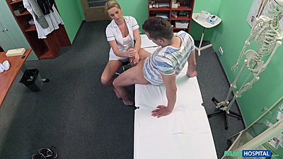 Jerking cock nurse with Nikky Dream