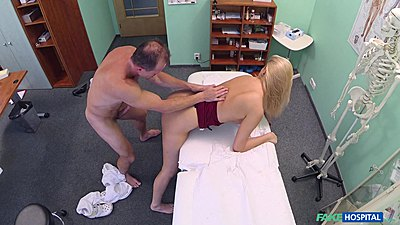 Bent over new nurse Nikky Dream getting cock from the rear