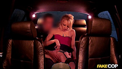 Backseat euro slut fucks police officer