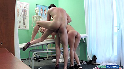 Couple sex therapy with nurse Alexis assisting threesome