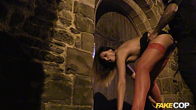 Eva gets rammed by police officer at the cemetery during halloween