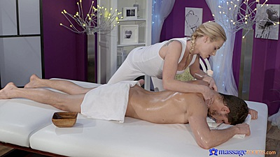 Private oil massage with Cristin Caitlin and Kristof Cale