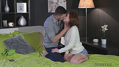 Redhead couple sex with Honey B and boy