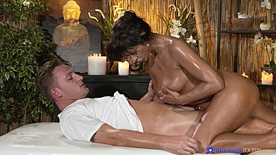 Tera titty fucking and sitting on dick during oil private massage