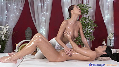 Half Czech and Vietnamese Paula  giving oily massage