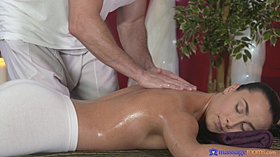 Oil massage with tight yoga pants Anna Rose