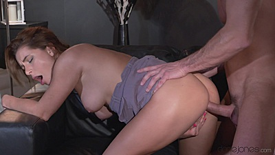 Charming couple sex with bent over and moaning chick Ally