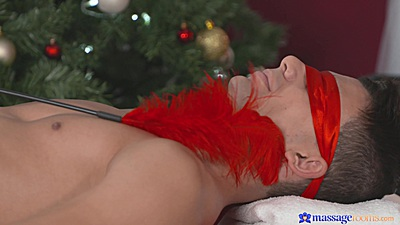 Christmas special massage with 18 year old sex angel Morgan
