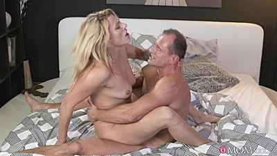 Dick jumping with missionary bedroom fuck from electric milf Brittany Bardot