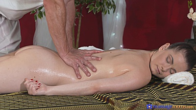 Lusty oil massage with Nana and her 20 year old firm body
