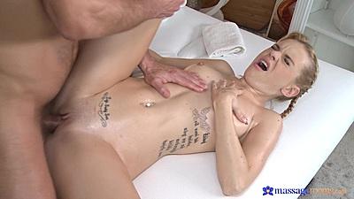 Sofia fucking during oil massage in private spa resort