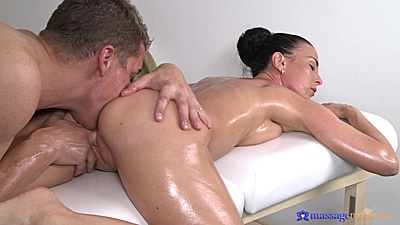 Firm body and tits slut Alicia Wild fingered during private massage