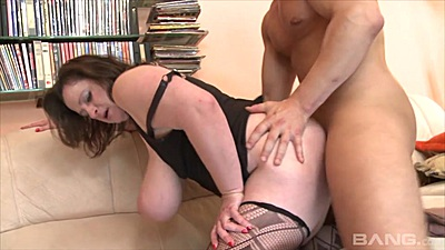 Doggy plowing a large juggs fat amateur Petra