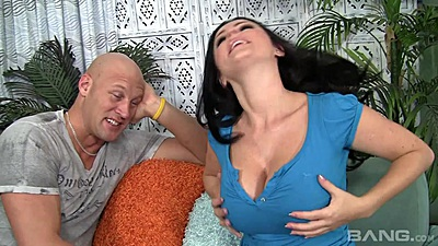 Big boobs undressing and oiling with brunette Sophie Dee