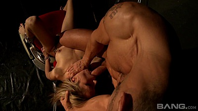Girl tied to a chair and banged in maledom Leyla Black