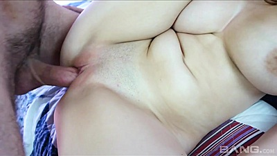 Close up very wet pussy sex with Noelle Easton and close up vaginal inspection