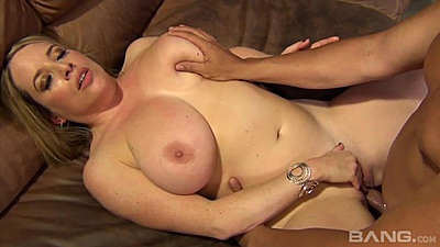 Natural big boobies milf Maggie Green spread legs front pussy intercourse