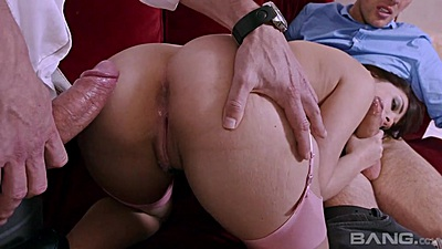 Doggy style sex in 2 on 1 euro cock invitation with Ava Dalush