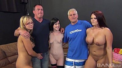 Posing for a group shot then daring orgy with Mackenzee Pierce and Nikki Sexx and Jennifer White