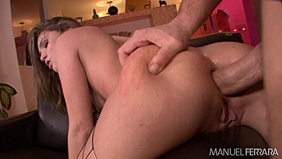 Tori Black getting her ass really stretched during anal pumping