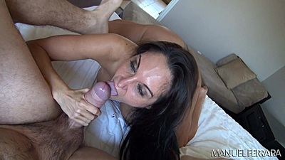 Blowjob with very large boobs milf Ava Addams