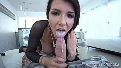 Pov blowjob with naughty lingerie girl Romi Rain