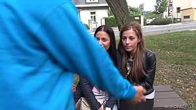 Two skinny twins Evelina Dellai and Silvia Dellai