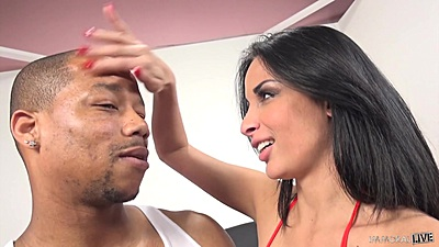 Nice interracial loving with Anissa Kate
