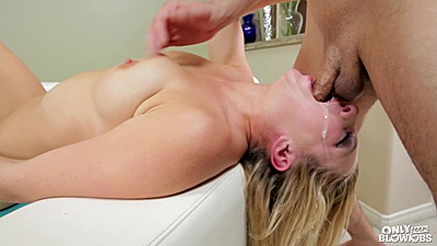 Reverse deep throat with saliva leaking stepsister Tiffany Watson