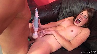 Screaming with pleasure natural juggs slut Jordan Kennedy
