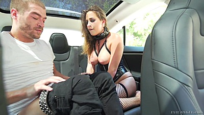 Back seat fetish humping with dirty slave Ashley Adams