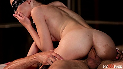 Cowgirl pussy riding with blind folded nice ass Natasha White
