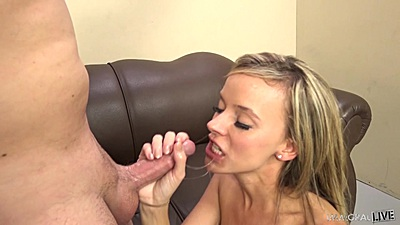 Very sexually energized college blowjob with petite Pristine Edge