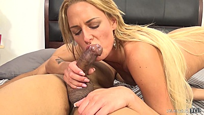 Chelsey Lanette satisfying her black cock fixation with oral