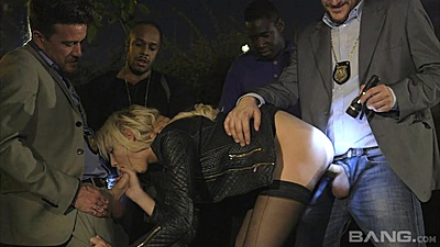 Anal ass pumping with various dicks for Leanne in gang bang