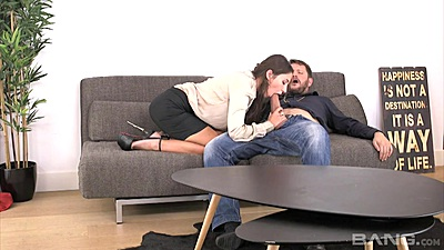 Fully clothed blowjob with Shirly and Tony