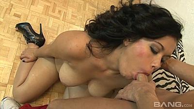 Majestic milf blowjob with asian Kat Major then sex
