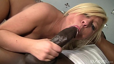 Big black stepbrother cock is what Heidi Hollywood loves to suck on