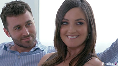 Pepper XO and Ana Foxxx smiling during their first time threesome