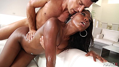 Oiled up loving sex with Chanell Heart