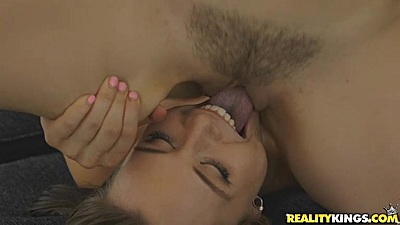 Close up face sitting and cunnilingus with hair twat on Aidra Fox and Karlie Montana
