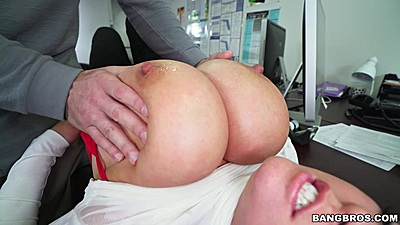 Big tits worshiping at the office with Brandy Talore