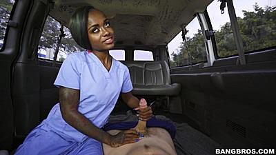 Handjob from sex black nurse in uniform Lexxi Deep