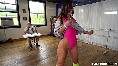 True audition seduction and deep throat with latina Kelsi Monroe