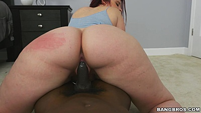 Interracial big bubble ass reverse cowgirl vaginal sex with Virgo Peridot
