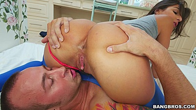 Ass licked and fingered with butt worshiped Abella Danger