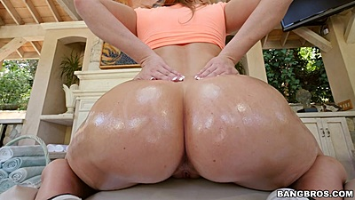 Lovely ass curves all oiled up and ready Harley Jade