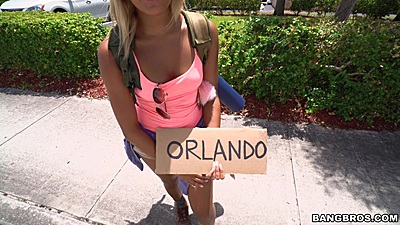 Raunchy little latina Ally Berry looking ot hitch a ride to Orlanda
