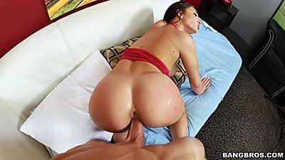 Sweetheart pov doggy fuck with Crystal Rae rammed fast