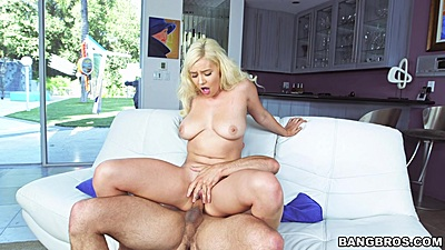 Dick polishing reverse cowgirl fuck with blond eKylie Page